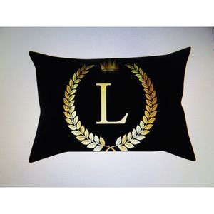 Personalized Pillow Cover Black Gold Pillow Case